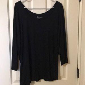 Lane Bryant black long sleeve T-shirt size 22/24